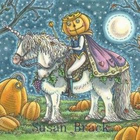 Art: THE PUMPKIN PRINCE by Artist Susan Brack