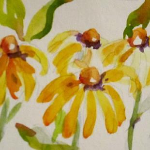 Art: Yellow Flowers Aceo-sold by Artist Delilah Smith