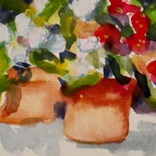 Art: Two Pots Aceo-sold by Artist Delilah Smith