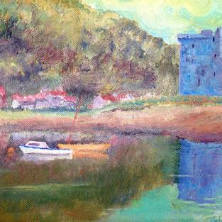 Art: Lochranza, Isle of Arran by Artist John Wright