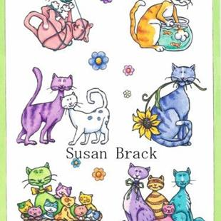Art: RAINBOW CATS Collection by Artist Susan Brack