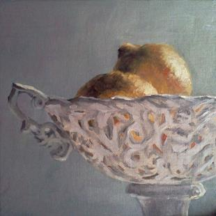 Art: Lemons in a bowl by Artist Kimberly Vanlandingham