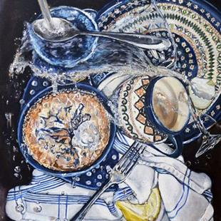 Art: Sink Splatter: Polish Pottery LXII by Artist Heather Sims