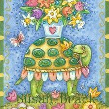 Art: TABLE TOP TORTOISE by Artist Susan Brack