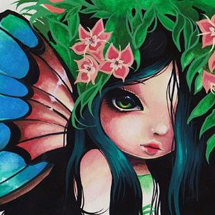 Art: Wide Eyed Fairy by Artist Nico Niemi