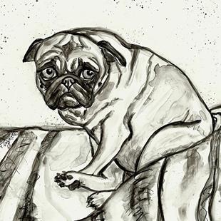 Art: The Innocent Pug by Artist Melinda Dalke
