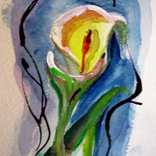Art: Calla Lilly-sold by Artist Delilah Smith