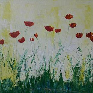 Art: abstract poppies in sun by Artist Eridanus Sellen