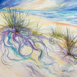 Art: SEAGRASS ABSTRACT PLEIN AIRE GULF SHORES by Artist Marcia Baldwin