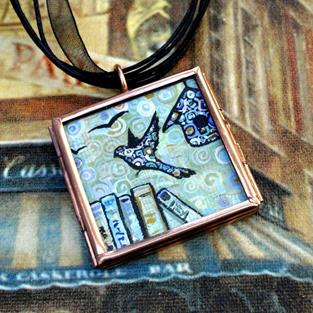 Art: A Time to Learn - Original Wearable Art ~ SOLD by Artist Dana Marie