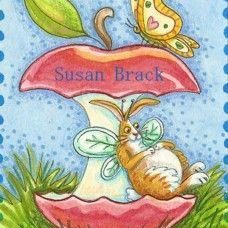 Art: FLUTTERBUN AN APPLE A DAY by Artist Susan Brack
