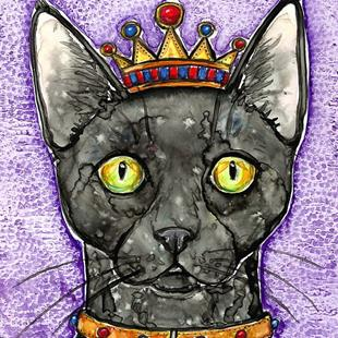 Art: King Chat by Artist Melinda Dalke