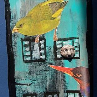 Art: Come to the Bird House SOLD by Artist Nancy Denommee