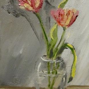 Art: Tulip Still Life by Artist Delilah Smith