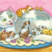 Art: CAT NAPZZZZZ by Artist Susan Brack