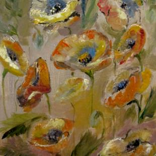 Art: Abstract Poppies by Artist Delilah Smith