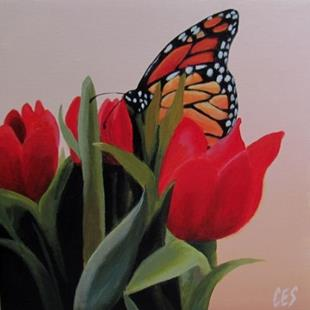 Art: Spring Visitor by Artist Christine E. S. Code ~CES~