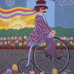 Art: Penny Farthing by Artist Shelly Bedsaul