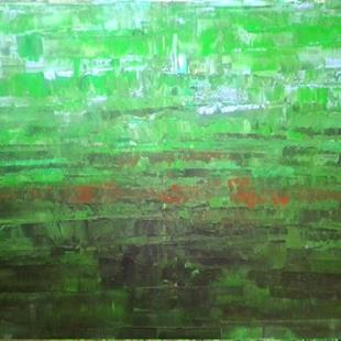 Art: Green Abstraction 132 (s) by Artist Luba Lubin