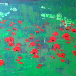 Art: Red Poppies by Artist Luba Lubin