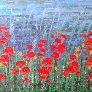 Art: Red Poppies - 136 by Artist Luba Lubin