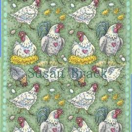 Art: HENS RULE THE ROOST Panel Repeat 4 by Artist Susan Brack