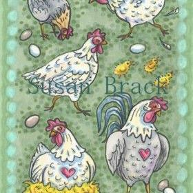 Art: HENS RULE THE ROOST by Artist Susan Brack
