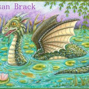 Art: DRAGON IN THE KOI POND by Artist Susan Brack