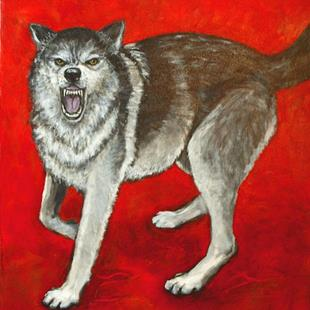 Art: Wolf by Artist Virginia Ann Zuelsdorf