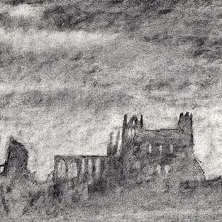 Art: Whitby Abbey (2) by Artist John Wright
