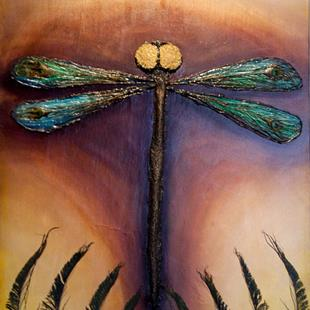Art: Royal Dragonfly by Artist Rebecca M Ronesi-Gutierrez