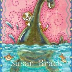 Art: NESSIE CAUGHT BY A CAT by Artist Susan Brack
