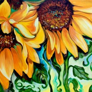 Art: SUNFLOWER DANCE by Artist Marcia Baldwin