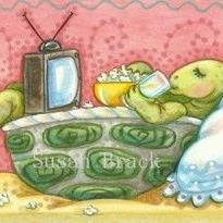Art: TV IN BED by Artist Susan Brack