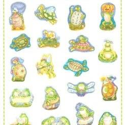 Art: TURTLES & FROGS STICKERS By Susan Brack by Artist Susan Brack