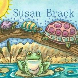 Art: SUNNY DAYS ON A LOG by Artist Susan Brack