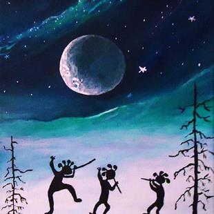 Art: Moon Dance #3 by Artist Kathy Hatt