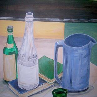 Art: Still Life Cool Colors by Artist Kim Loberg