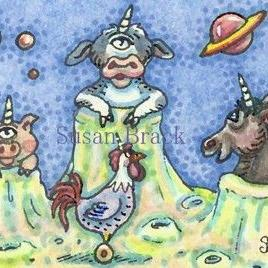 Art: UNICORN PLANET by Artist Susan Brack