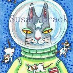 Art: HISS N' Fitz - MICE FLOAT IN SPACE by Artist Susan Brack