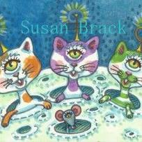 Art: MOON KITTENS by Artist Susan Brack