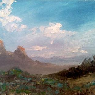 Art: Evening Western Sky by Artist Kimberly Vanlandingham
