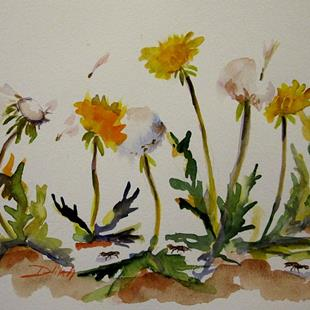 Art: Dandelions by Artist Delilah Smith