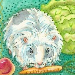 Art: GUINEA PIG ON THE LOOSE by Artist Susan Brack