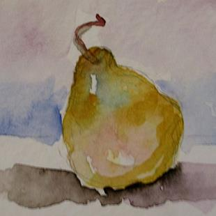 Art: Pear Aceo by Artist Delilah Smith