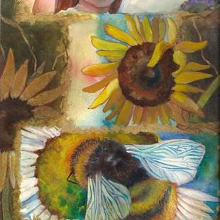 Art: Garden Collage by Artist Catherine Darling Hostetter