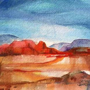 Art: Southwest Landscape by Artist Catherine Darling Hostetter