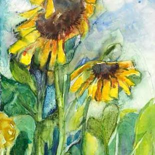 Art: Sunflowers by Artist Catherine Darling Hostetter