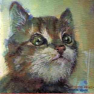 Art: Kitty Face by Artist Catherine Darling Hostetter