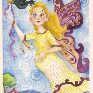Art: Fairy Mom to Be by Artist Catherine Darling Hostetter